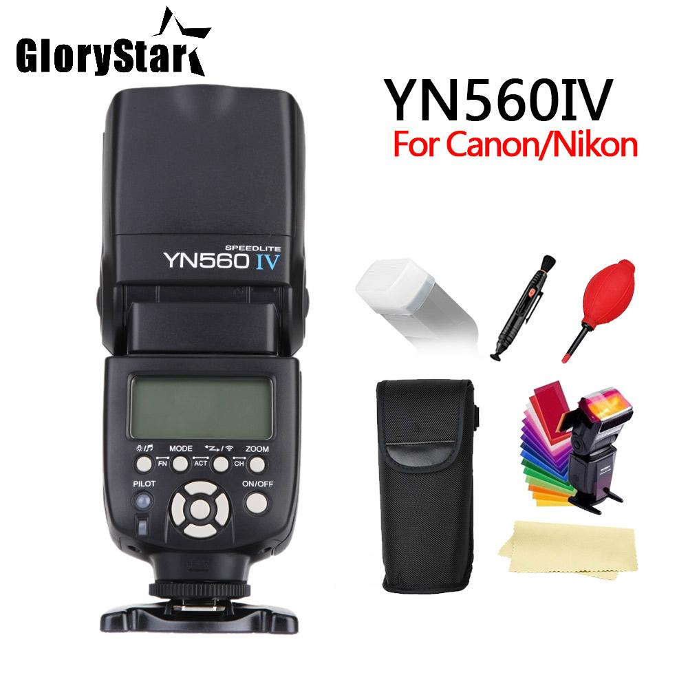GloryStar YONGNUO YN560 IV 2.4GHZ Wireless Flash Speedlite Transceiver Integrated for Canon Nikon Panasonic Pentax Camera