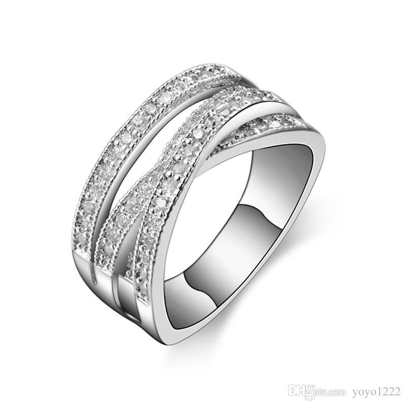 موضة جديدة خواتم للنساء حزب أنيقة مجوهرات الزفاف 925 فضة خاتم الخطوبة جودة عالية