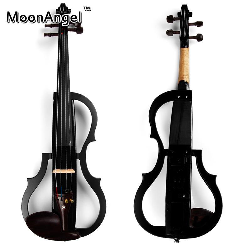 4/4 Black Wood Electric 바이올린 악기 초보자 및 음악 아마추어에게 적합한 고품질의 현악기