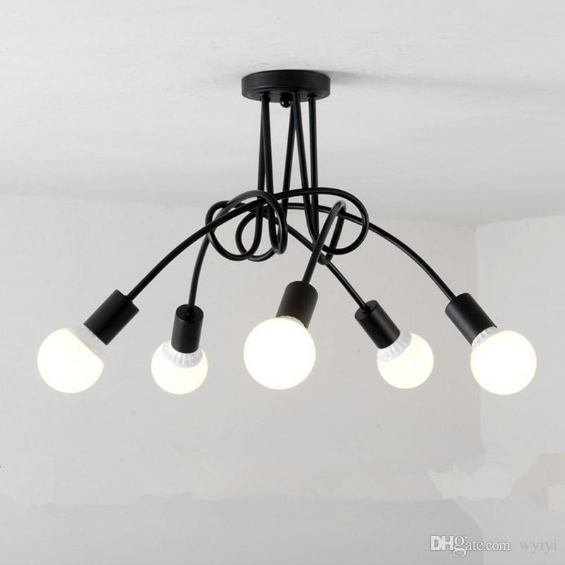Led Ceiling Lights For The Living Room Luminaria E27 Ceiling Lamps Fixtures For Home Lighting Lamparas De Techo Lustre 3/5 Heads