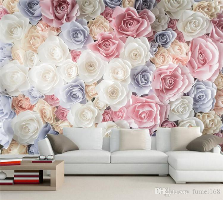 Many Texture Rose Flower Wallpaper 3d Wall Mural Living Room Tv Sofa Wall Bedroom Hotel Room Restaurant Papel De Parede Images Wallpaper For Desktop