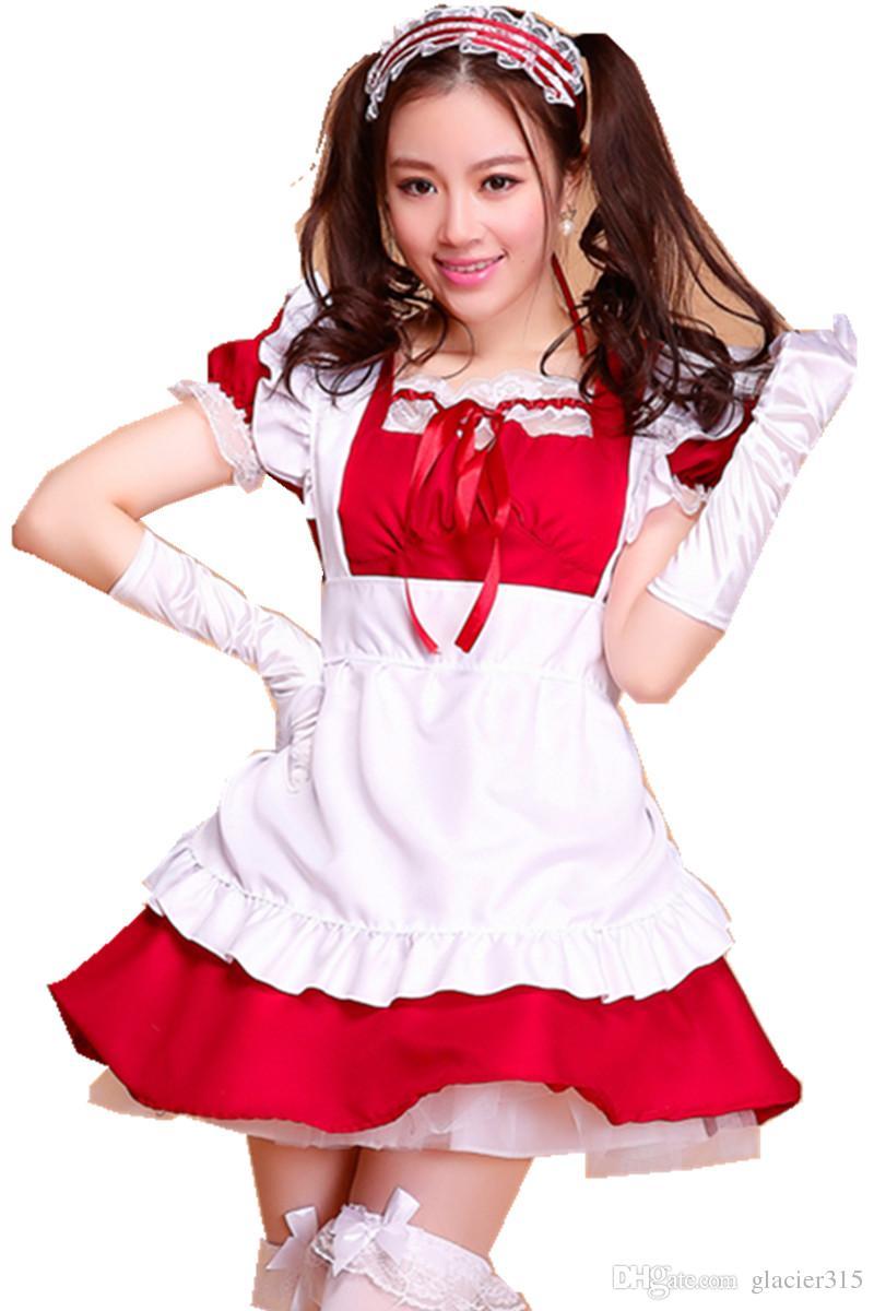Shanghai Story Robes Lolita pour femmes Tablier français Costumes de servante Cosplay pour dame