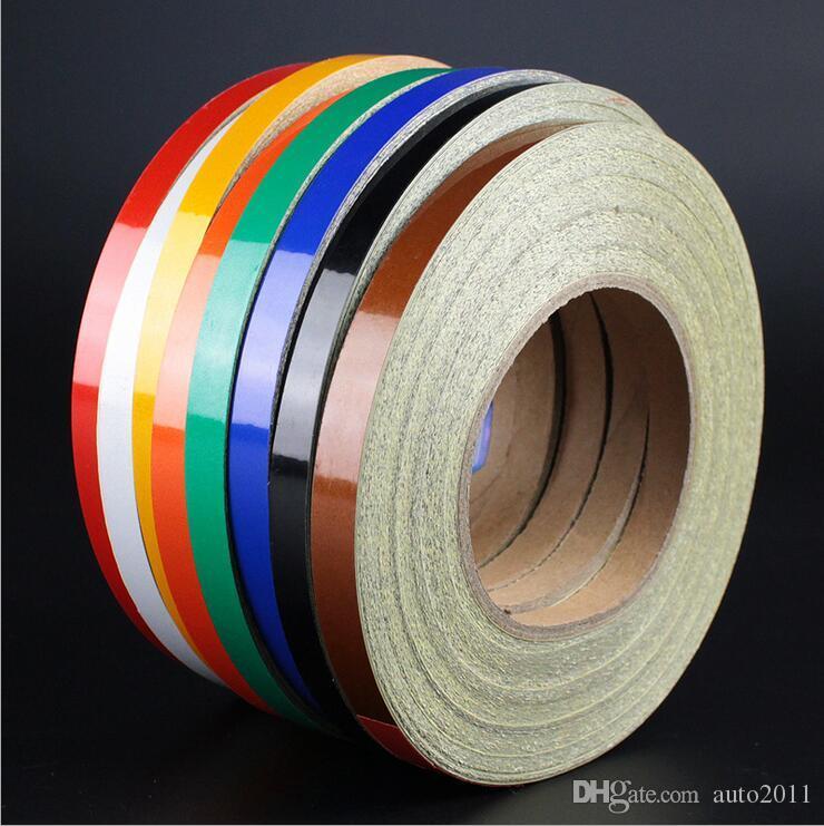 Sıcak 8 Renk Araba Çıkartmaları Evrensel Renkli Vücut Sopa Yansıtacak Otomotiv Sticker Çıkartmaları Toptan Bir Rulo 450 cm Dış Dekorasyon