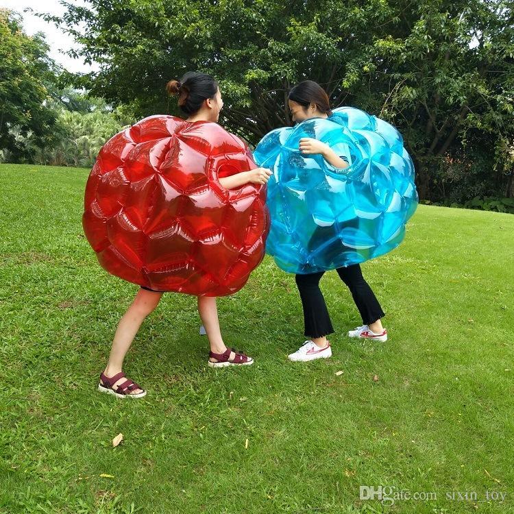 Inflatable Body Bumper Ball PVC Air Bubble 90cm Outdoor Kids Game Bubble Buffer Balls Outdoor Activity