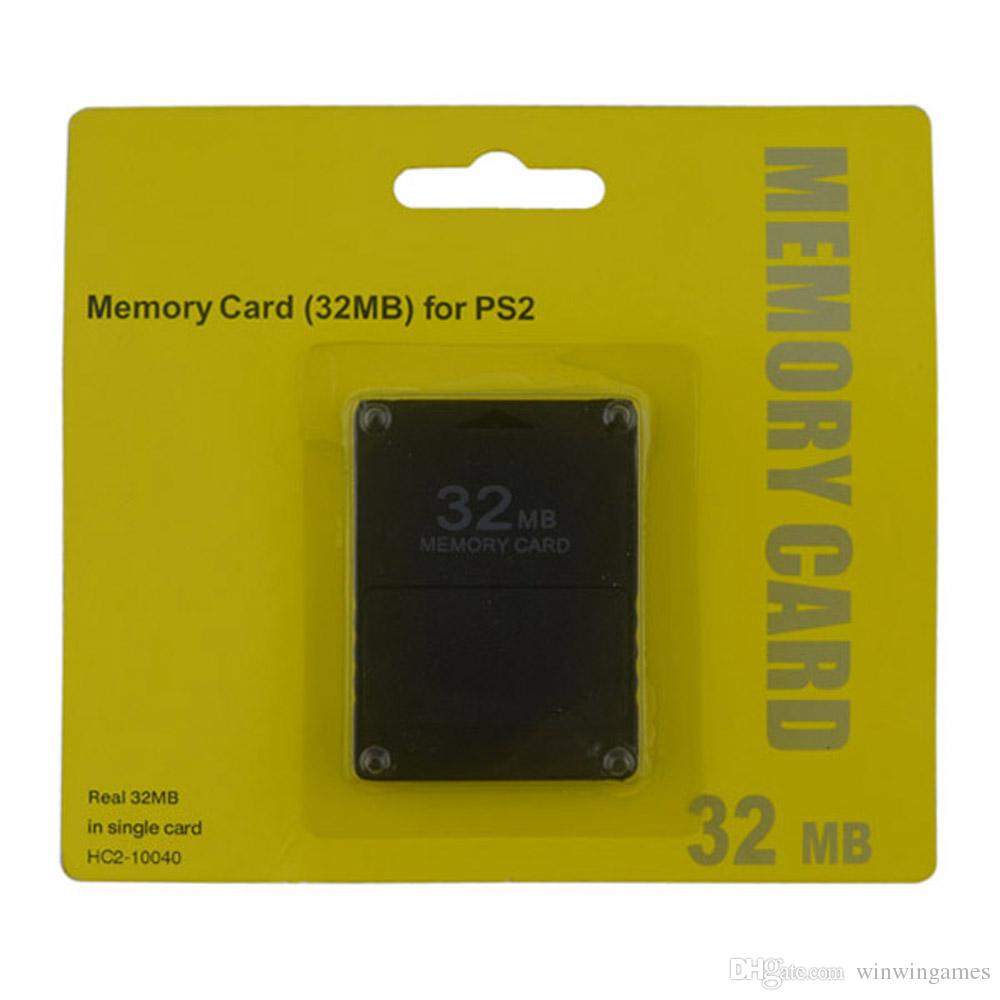10PCS High Quality for Sony Playstation 2 PS2 8MB 16MB 32MB 64MB 128MB Memory Card for ps2