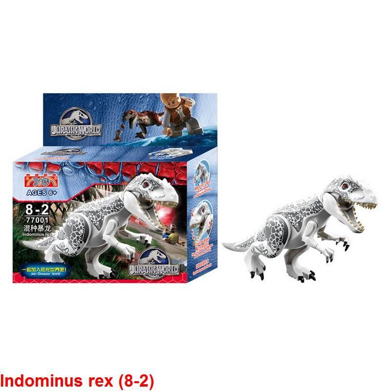 1 adet Indominus rex (8-2) Jurassic Dünya Dinozor Blokları Oyuncaklar
