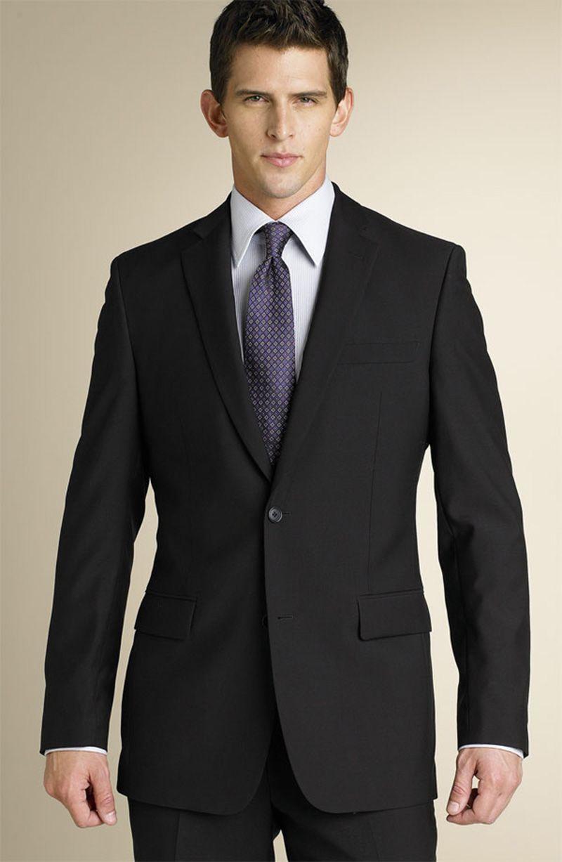 2018 Trajes de hombre Trajes de boda de solapa con muesca negra Novio de negocios Por encargo Slim Fit Formal Smokings Prom Blazer Mejor hombre chaqueta + pantalones
