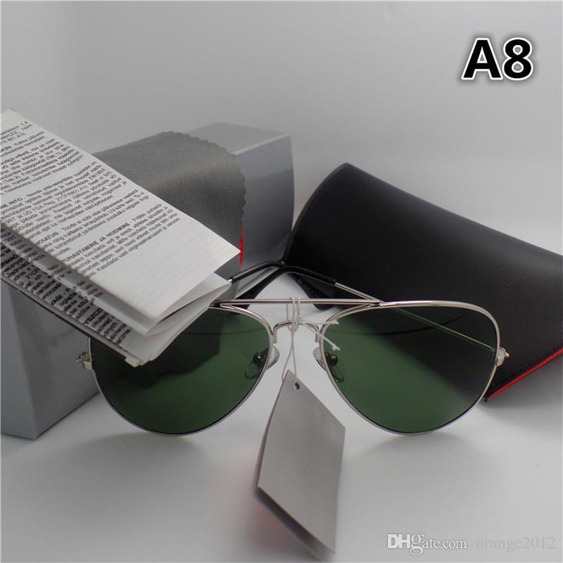 고품질 브랜드 디자이너 패션 남자와 여자에 대 한 큰 프레임 선글라스 스포츠 빈티지 태양 안경 상자와 케이스