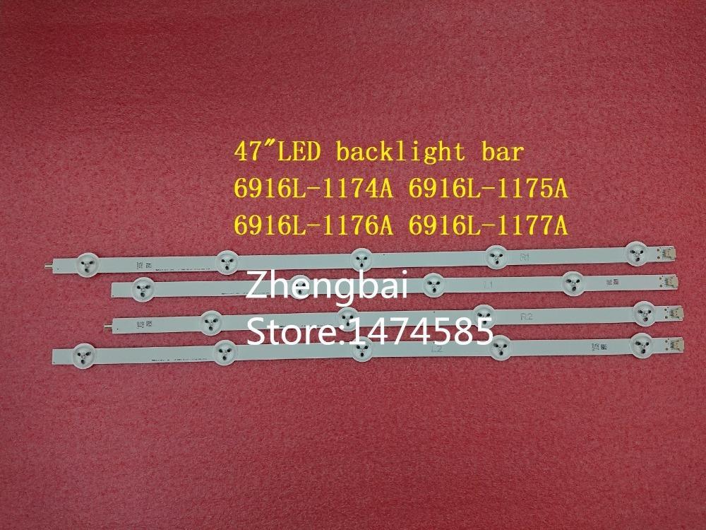 Бесплатная доставка 1 шт=7.9$ 4 штуки=19.7$ для 47LE5500 47E5ERS светодиодных лент 6916L-1174А 6916L-1175A 6916L-1176A 6916L-1177A,используемая часть