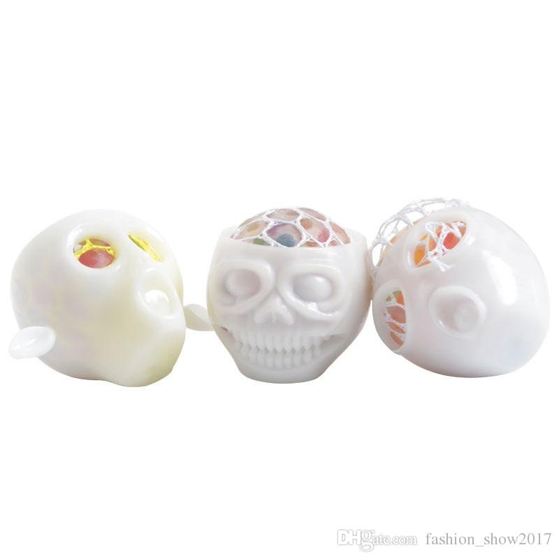 New Fashion Halloween Alien Skull Stress Relief Toys Decoration Decompression Squeeze Toys Antistress Toys for Kids Children