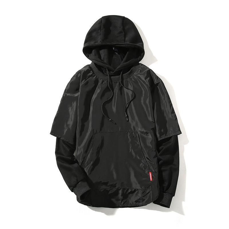 Manteau hommes automne / hiver vacances deux visages à capuche mode tendance créateur de vêtements décontractés