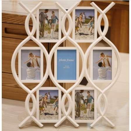 Marco del estilo de la combinación del estilo de la moda 6 fotos marco de la combinación del marco imagen de la pared de la foto de 6 pulgadas en la pared 17E15D5