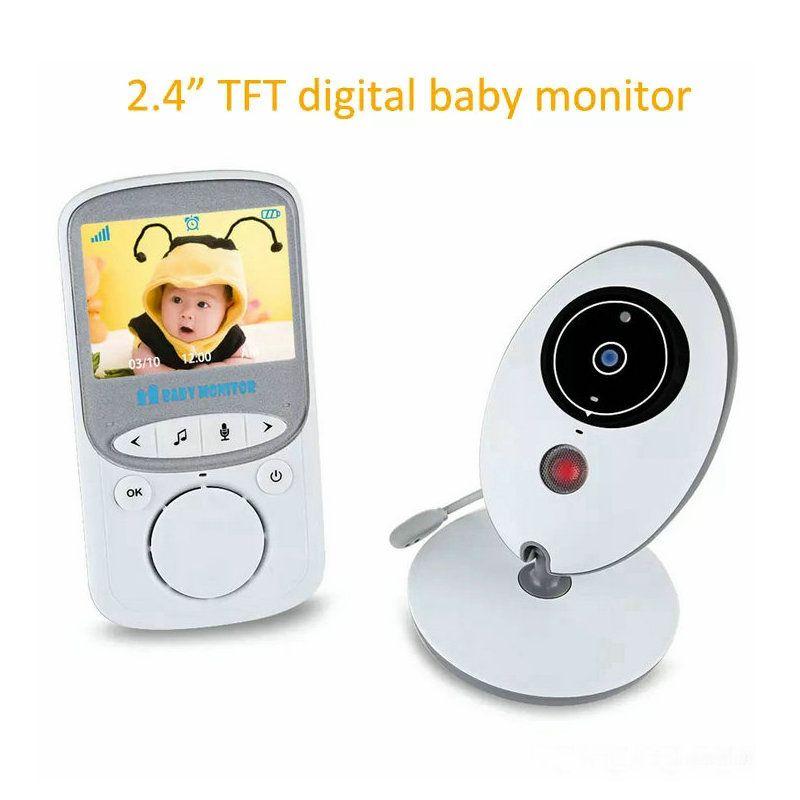 2.4 cal bezprzewodowy Monitory Baby Kamera Bezpieczeństwa wideo 2.4 GHz Monitor Bebe Audio Night Vision Wykrywanie temperatury