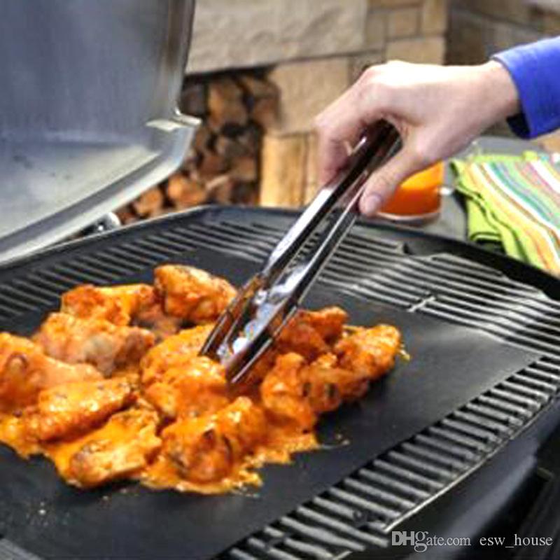 2000PCS 바베큐 굽고 바베큐 그릴 매트 굽고 쉬운 비 스틱 및 재사용 만들기 휴대용 33 * 40 CM, 0.2 MM 블랙 오븐 핫 플레이트 매트