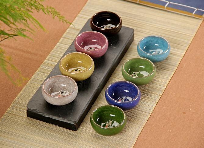 Nuevas tazas de té chinas de porcelana Celadon Fish Teacup Drinkware Oolong Tea de cerámica de China Kung Fu Tea Sets