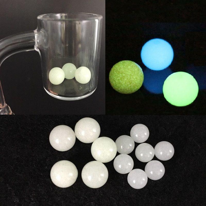 6mm 8mm Quartz Dad Dab Perle Sfere Glow in Dark Insert Luminoso Blu Verde Quarzo Perle per palline al quarzo Banger Nails Dab Rigs