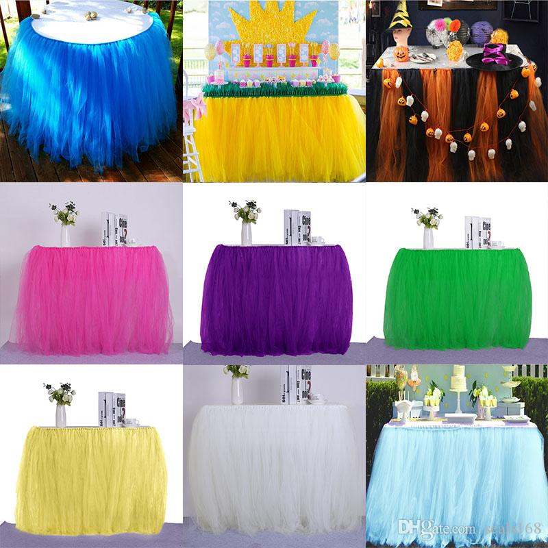 Xmas Wedding Table Skirt Cloth Tableware For Party Birthday Decor Lace Table Cover Home Textiles Decorations 18 Styles HH7-1507