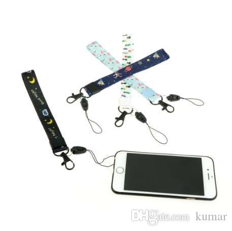 Bonito Dos Desenhos Animados de Pulso Mão Celular Cadeia de Corrente de Telefones Móveis Charme Cordas DIY Pendurar Corda Lariat Corda 1 Pcs