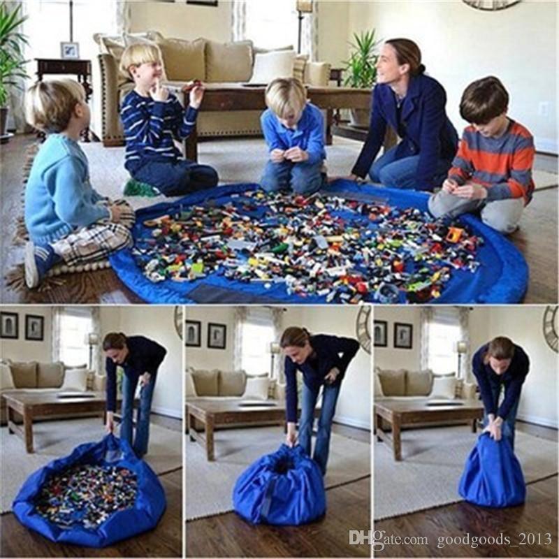 150 سنتيمتر كبيرة محمولة تلعب حصيرة لعبة أكياس التخزين للأطفال الأطفال الرضع الطفل اللعب حصيرة المنظم بطانية سجادة صناديق b1539