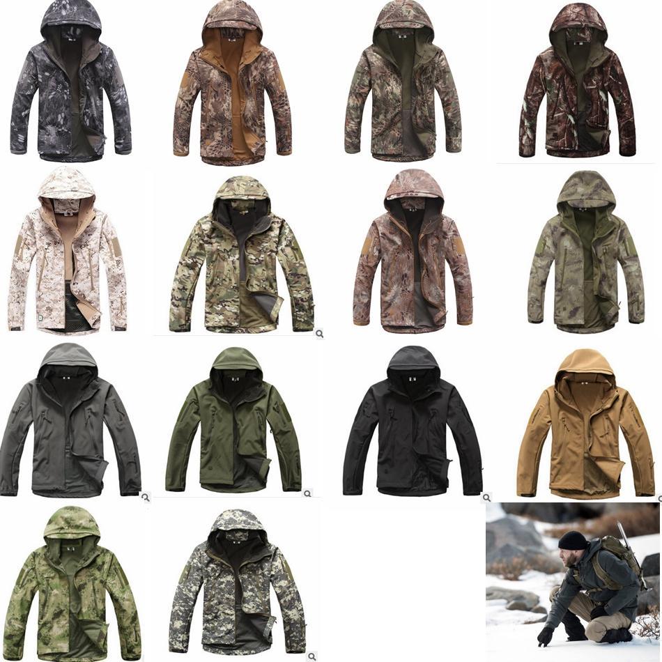 TAD Stealth Sharkskin Softshell Casacos Militares Envoltório À Prova D 'Água Camuflagem Casaco Homens Caminhada Tático Caça Com Capuz casacos GGA1030