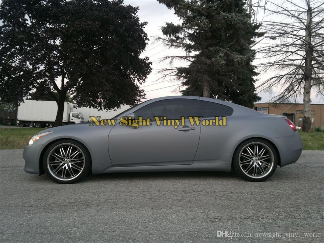 Matte Grey Car >> 2019 Matt Grey Vinyl Film Roll Matte Gray Car Wrap Body Foil Air Bubble Free For Car Stickers Size 1 52 30m Roll From Newsight Vinyl World 197 57
