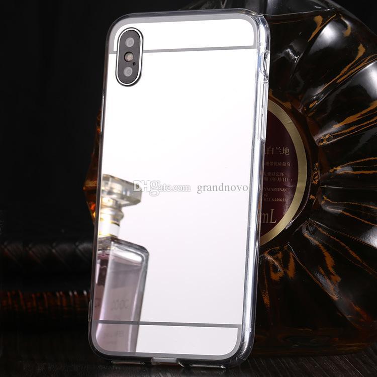 Chapeamento caso capa Espelho Choque acrílico macio TPU para o iPhone de 11 Pro Max XS XR X 8 7 6 6S Além disso Samsung Galaxy S10 E S9 Nota 9 M10 M20 A30 A50