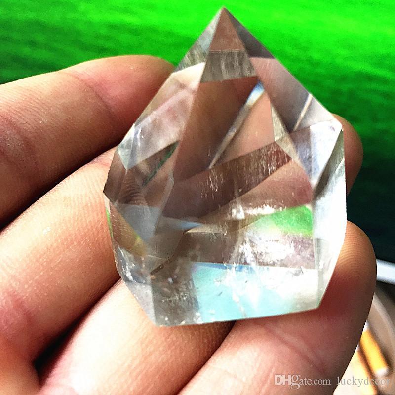 1KG Chunky Freeform Random Size Polished & Beveled Surface Cracked Inside Natural Clear Quartz Crystal Point Generator Boho Decor Meditation