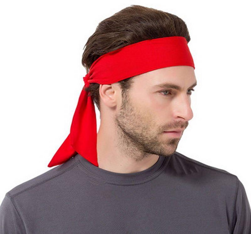 Quickly Dry Headband Antiperspirant Running Stretch Head Tie Sports Sweatband Tennis Basketball Wicking Sweat Hair Bands