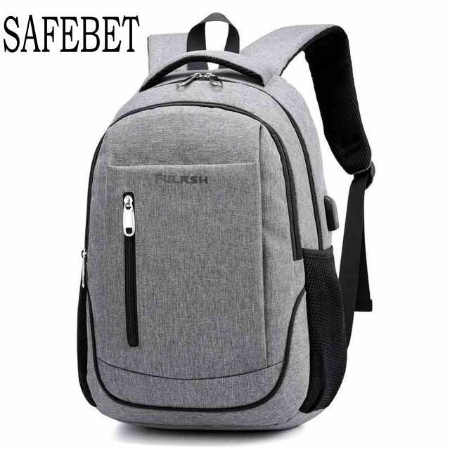 SAFEBET 2018 متعددة الوظائف الجديدة USB الشحن أزياء الرجال السفر حقيبة الظهر ماء سعة كبيرة حقيبة مدرسية ذكر