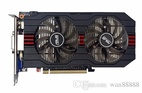 Usado, original tarjeta de video ASUS GTX750TI 2G DDR5 128bit HD, 100% probado bueno!
