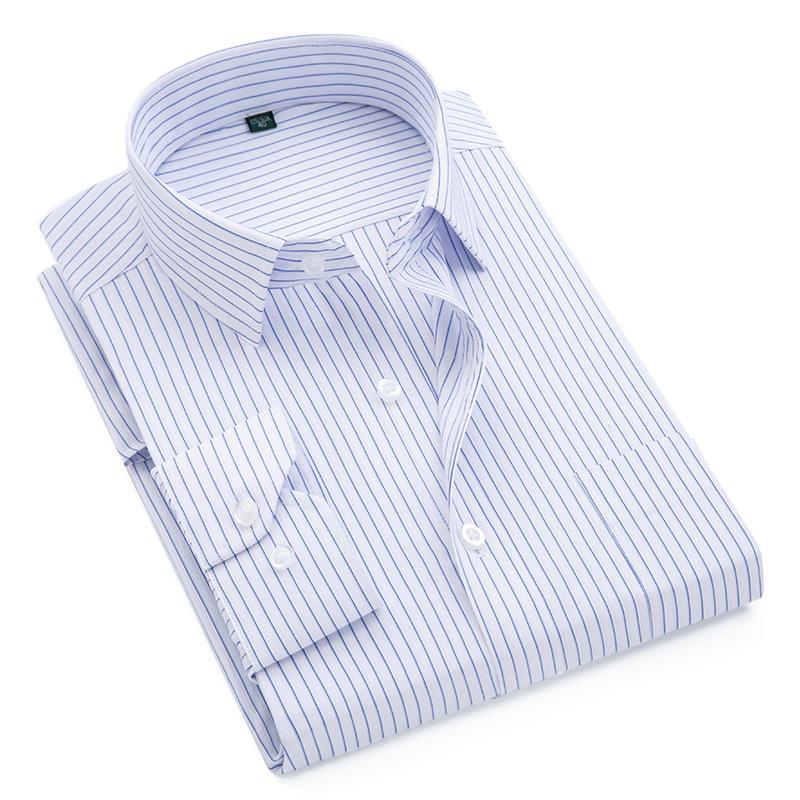 2017 Brand New Men Shirt Male Dress Shirts Striped Men's Fashion Casual Long Sleeve Business Formal Shirt Formal camisa social