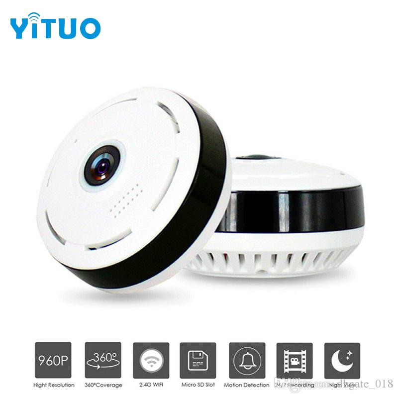 HD 960P Wifi IP Camera Home Security Wireless 360 Degree Panoramic CCTV Camera Night Vision Fish Eyes Lens VR Cam YITUO
