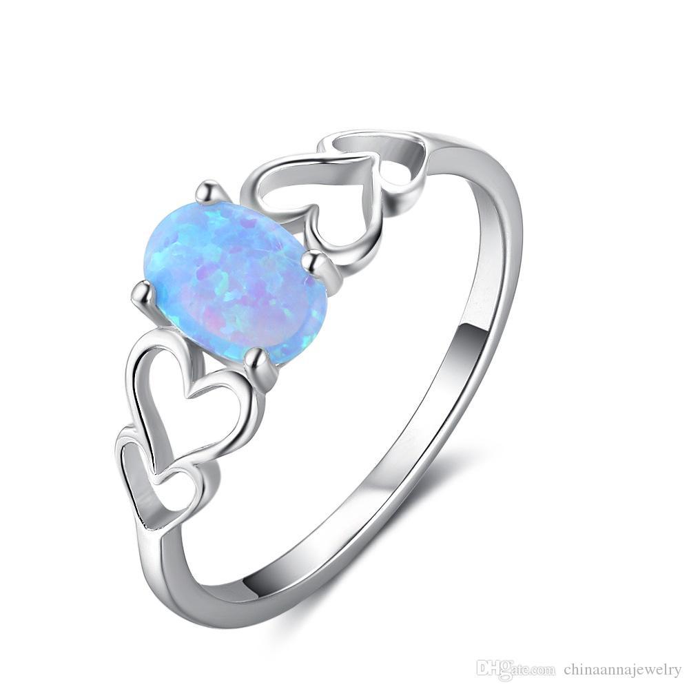 مزيج بالجملة تصميم بسيط حقيقي 925 فضة سيدة الدائري أزياء الصين قلوب مجوهرات لعشاق حلقات بالجملة