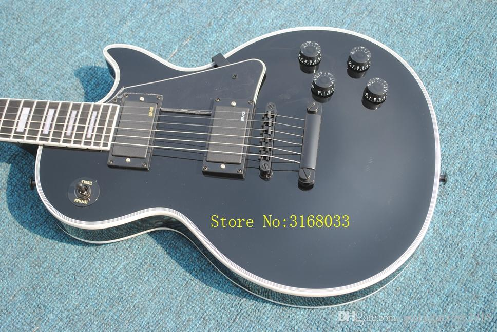 Hot Sale Electric Guitar with Ebony fingerboard ,White Binding,Black Hardware,can be Customized as Request