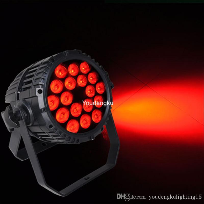 10pieces 18x15w resistente al agua par 64 led rgbaw al aire libre led luz par 15w led par