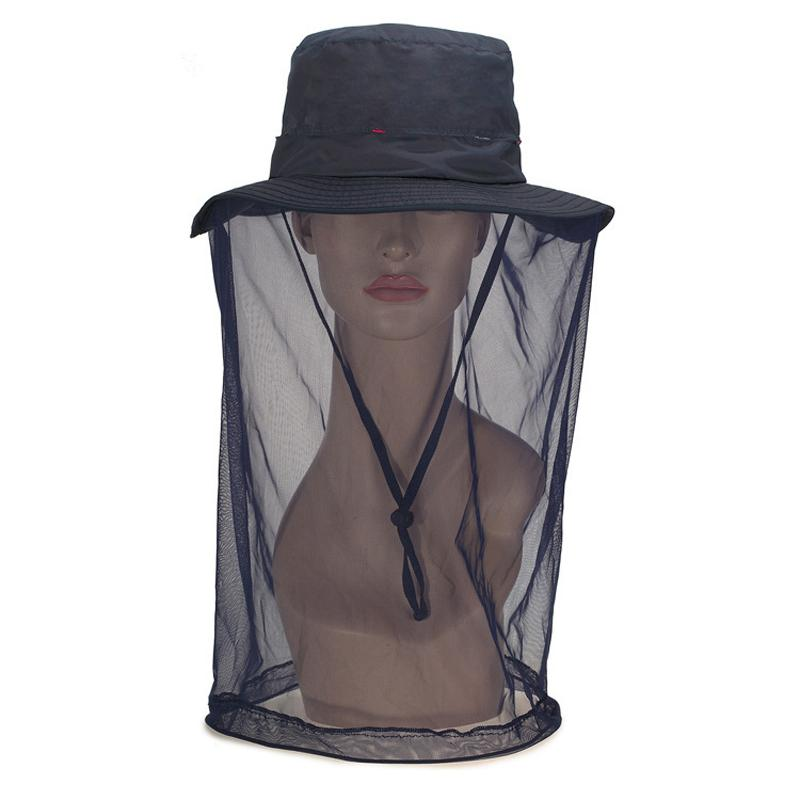 Summer Midge Mosquito Hat Net For Woman Anti Insect Mesh Head Net Face Protector Outdoor Travel Camping Hiking Fishing Cap Gear