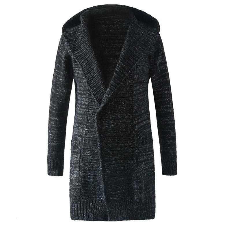 Nuovi uomini di arrivo Maglione Moda con cappuccio Design Europa stile a maniche lunghe Maglione Cardigan maschile Slim Fit Maglione casual Pull Homme