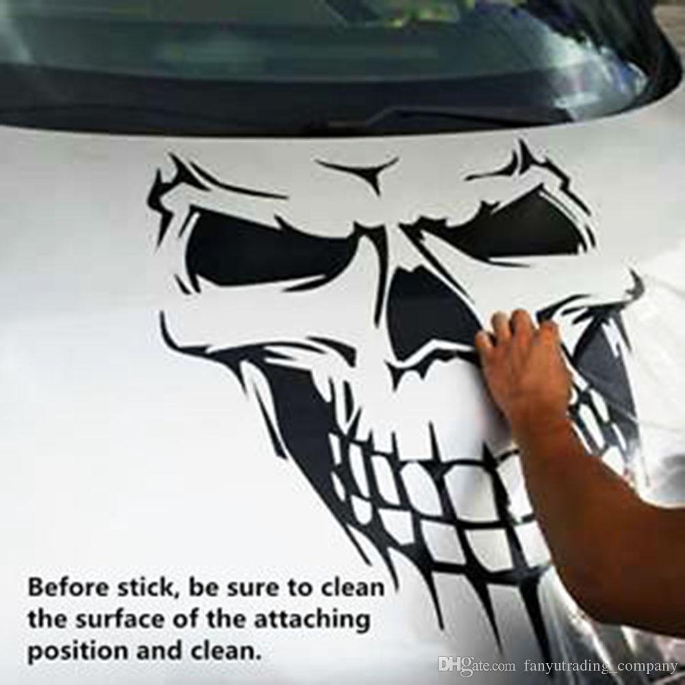Etiqueta engomada del coche de Halloween Skull Skeleton Car Hood Decal Etiqueta de la puerta lateral de vinilo para la ventana del coche UPS DHL