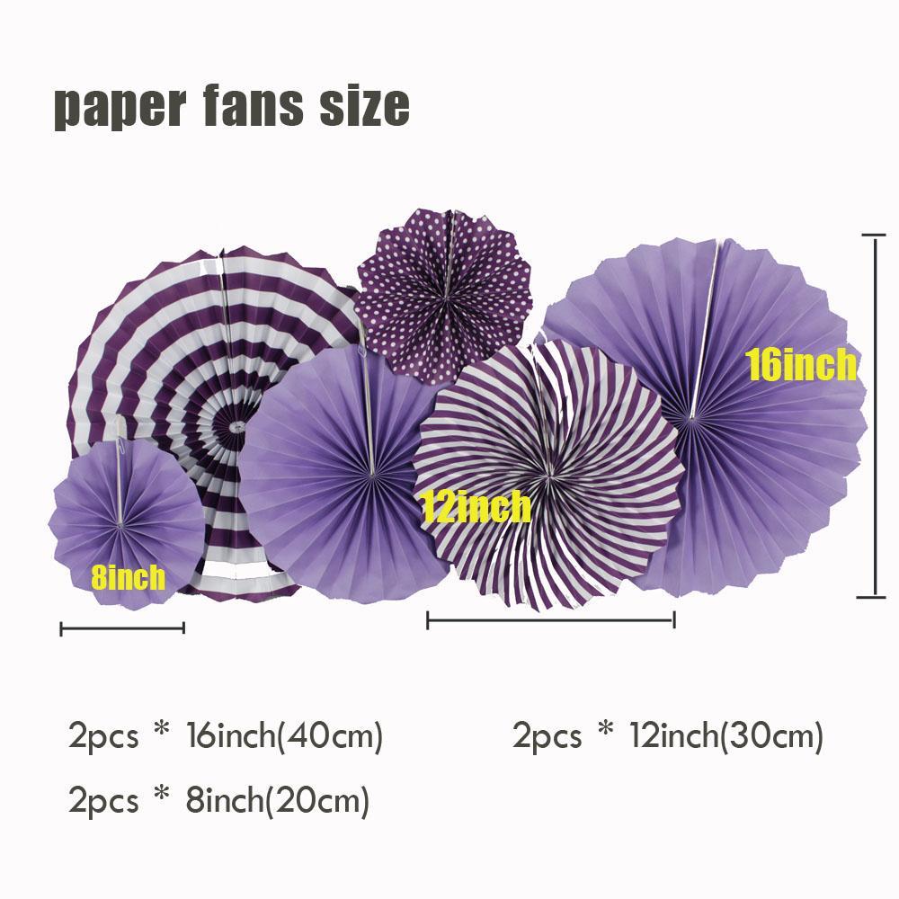 """Neue Ankunft Party Dekoration 8 """"12"""" 16 """"Multi Size Lila Set Hängen Papier Fan Für Kinder Geburtstag Hochzeit Papier Handwerk Decor"""