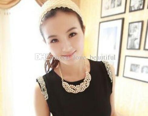hot nuova moda europea e americana nuova sfilata di moda in stile collare di perle alla moda classico delicato
