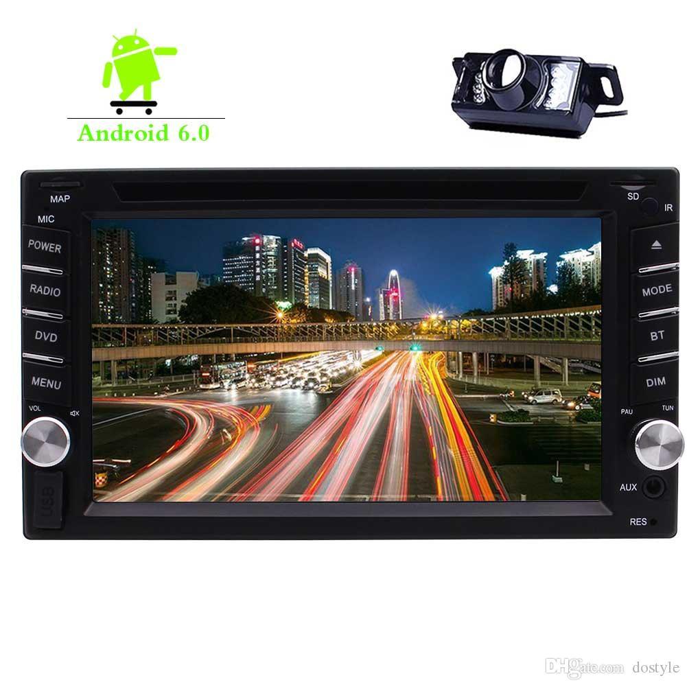 "Double 2Din Car DVD CD Player 6.2""Touchscreen Car Stereo GPS Navigation Bluetooth Autoradio WIFI Mirror Link DVR FM/AM Radio 1080P"
