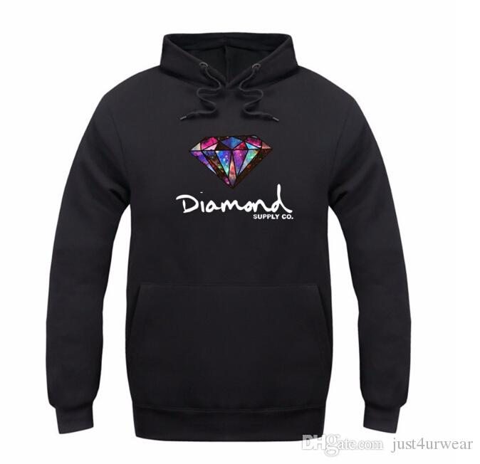 Mode Diamant Versorgung Co Druck Männer Dicken Hut Hoodies Frauen Casual Pullover Paar Herbst Winter Sweatshirt Langarmshirts