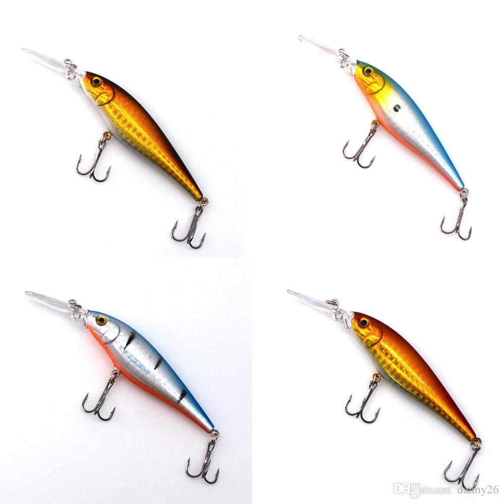 2018 1шт супер Quality10 цвета 11см 10,2 г иска искусственный жесткий приманки Рыбалка гольян рыболовные приманки воблер приманка 6# крюк 3D глаза