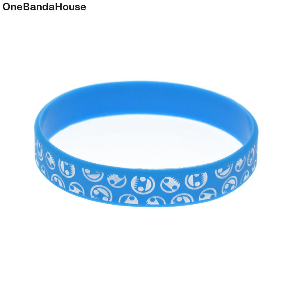 100PCS Fashion Decoration Logo Neff Silicone Rubber Bracelet Best Gift to Friend
