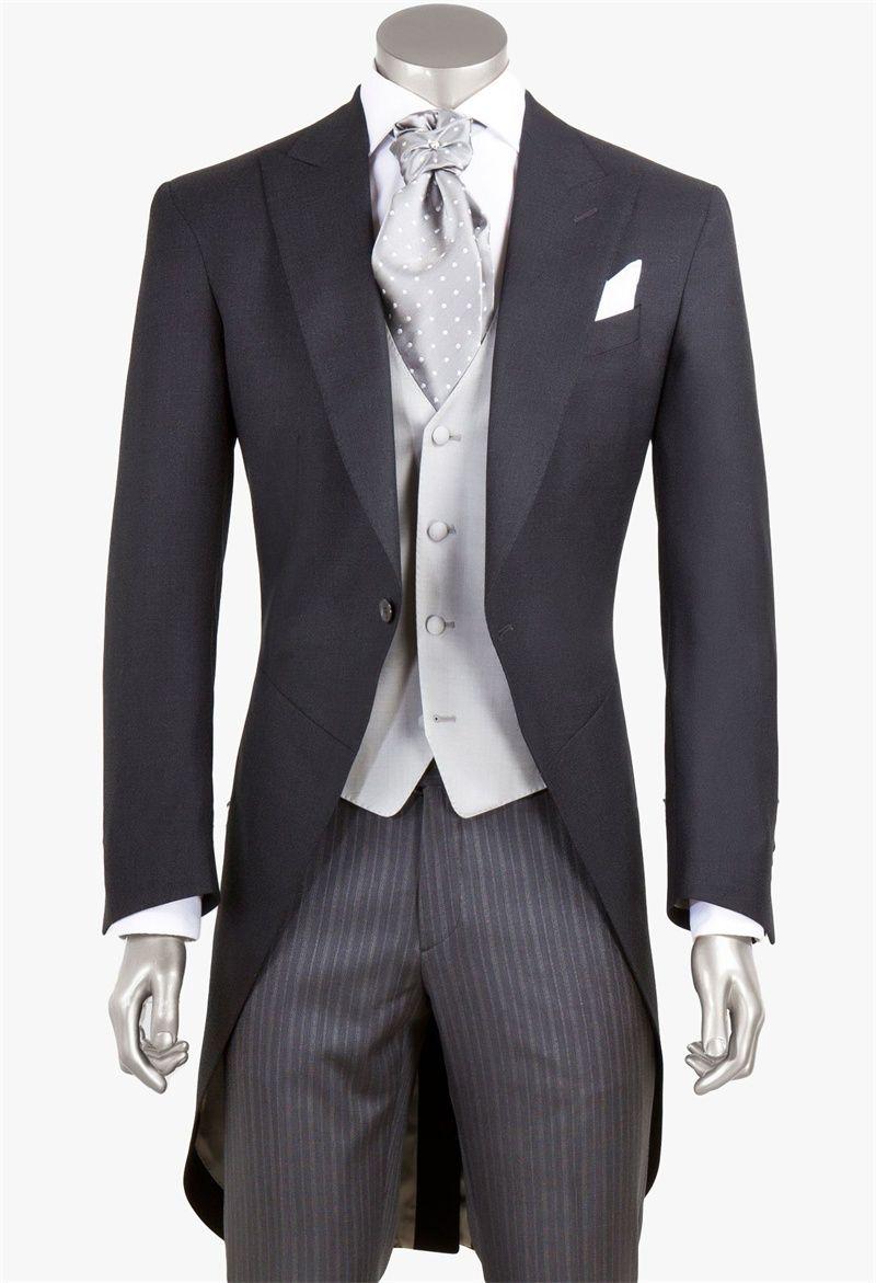 Fashion Designer Tailcoat Mens Suit Three Pieces Groom Suit Wedding Suits For Best Men Slim Fit Groom Tuxedos For Man(Jacket+Vest+Pants)