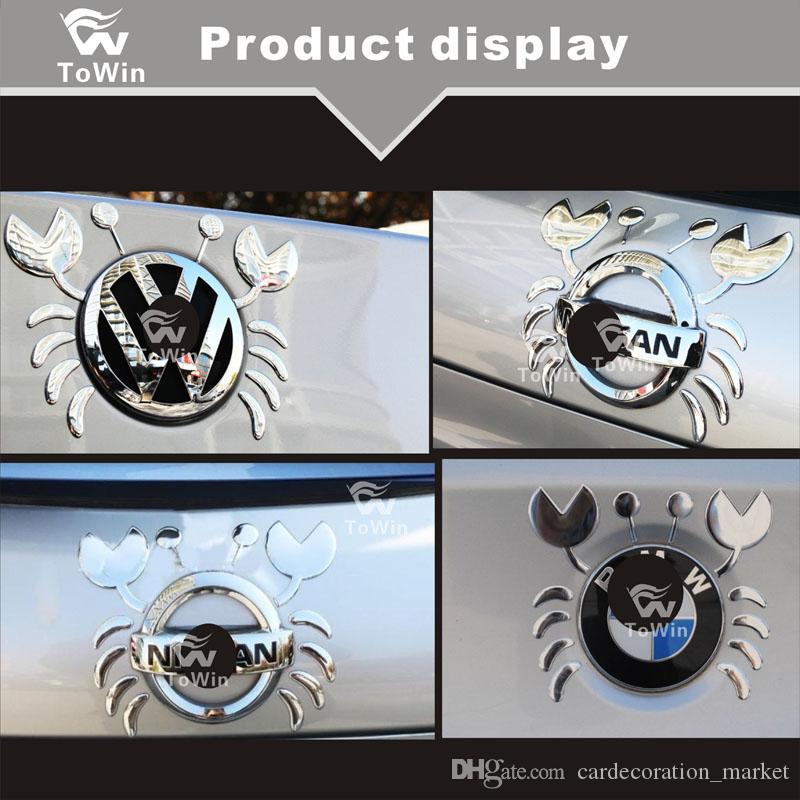 3D Grande Caranguejo Estilo Etiqueta Auto Car Logo Emblema De Papel Emblema Do Decalque, decoração Do Carro / Acessórios / Ouro / Prata / Ouro / Vermelho.