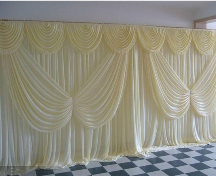 3M * 6M 10FT 20FT * اللون الأبيض الزفاف خلفية الستار مع زاوية أجنحة ستائر زينة الزفاف المشهد خلفية الديكور حفلة عيد ميلاد