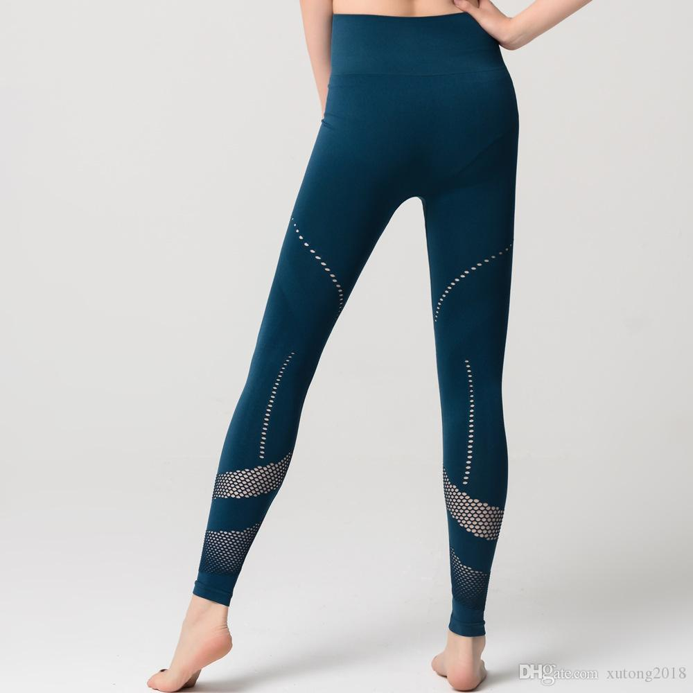 Women Fitness Yoga Pants Activewear Leggings Gym Tights Sports Long Capri Dancing Hip Shape Jeggings Compression Solid Slim Running Clothes