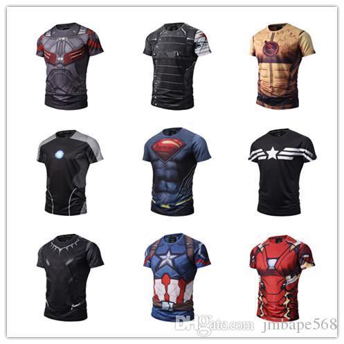 JM Toptan 3dt gömlek nefes spor tayt serisi açık çabuk kuruyan ter sürme dijital baskı kısa t gömlek
