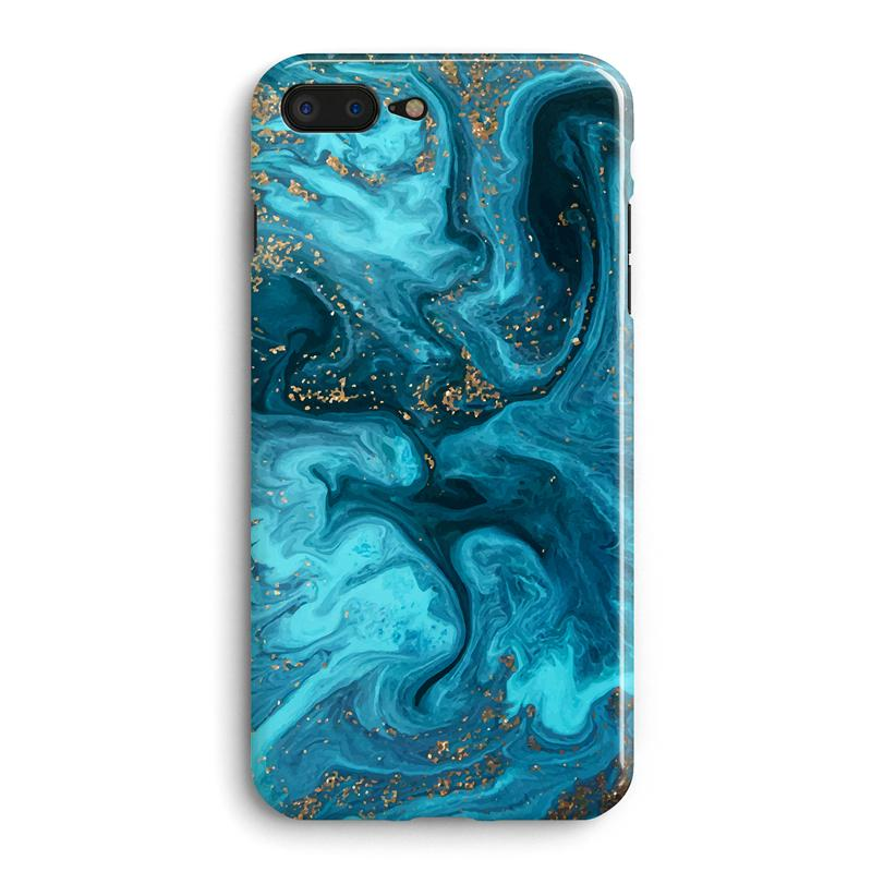 timeless design 1efe8 c01b8 Blue Blooming Green Stone Flow Abstract Lines Pattern Phone Case Back Cover  For Apple IPhone 6 6S 7 8 Plus X Cell Phone Case Wholesale Clear Cell ...